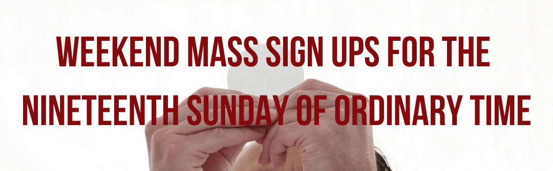 Parking Lot Mass Sign Up Banner — Cover Graphic 1 - Weekend Mass Sign Up